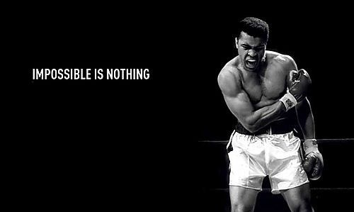 imposible is nothing.