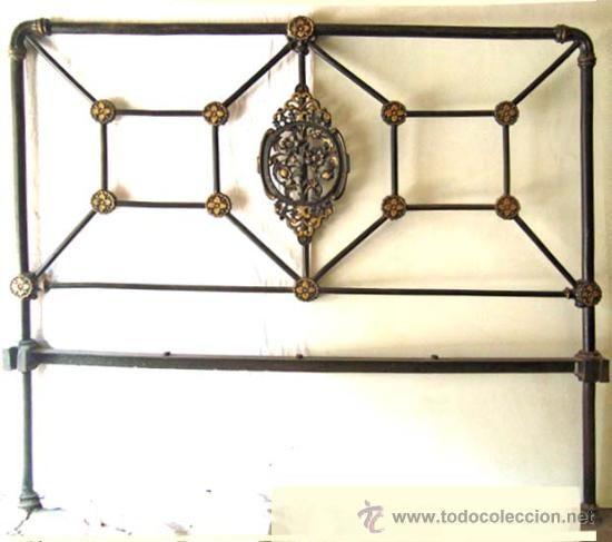 Cabezal de cama de hierro antig edades muebles antiguos camas antiguas vintage - Camas de hierro antiguas ...