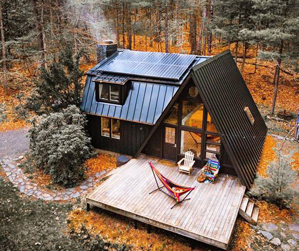 Charming Off Grid A Frame Cabin In The Catskills A Frame House A Frame Cabin A Frame House Plans