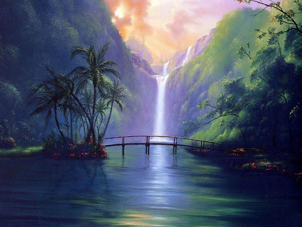 35861680 Free Wallpaper Backgrounds Wallpapers And Waterfall Paintings Waterfall Wallpaper Free Wallpaper Backgrounds