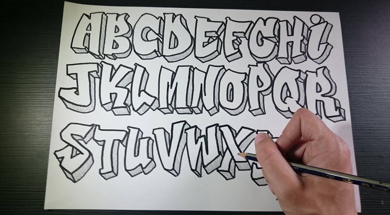 Image Result For Graffiti Alphabet Throwie Style Drawing In 2019