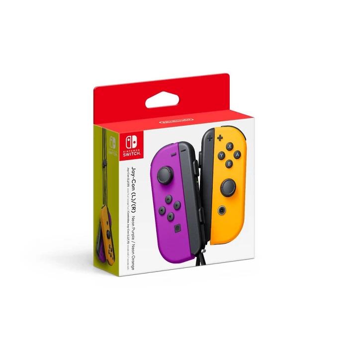 Nintendo Switch Joy Con L R Neon Purple Neon Orange Nintendo Switch Accessories Buy Nintendo Switch Nintendo Switch