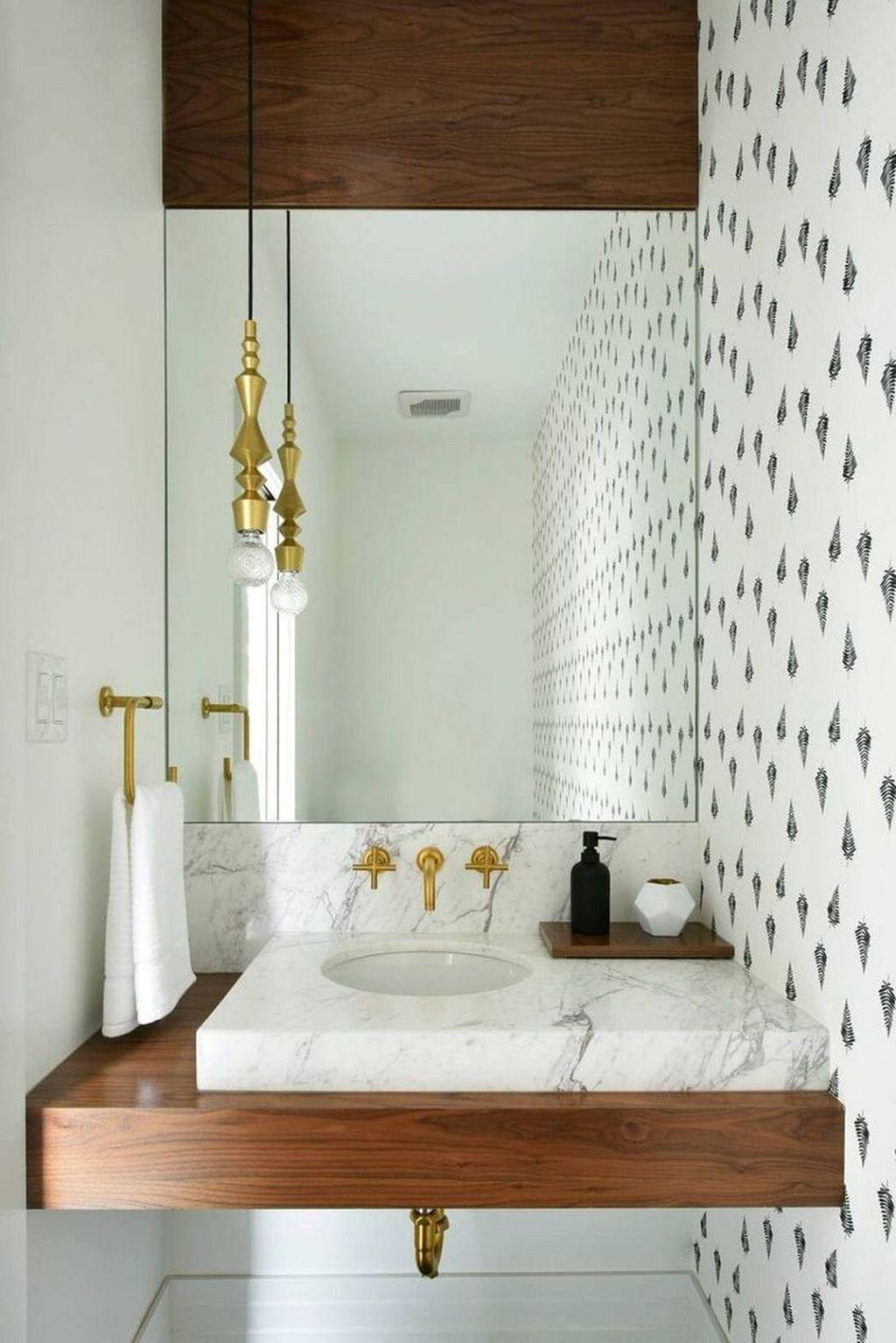 20 Elegante Kleine Puderraum Waschtischideen Erlaubt Fur Sie Auf Meiner Eigenen Blog Site Auf Powder Room Small Powder Room Vanity Modern Powder Rooms
