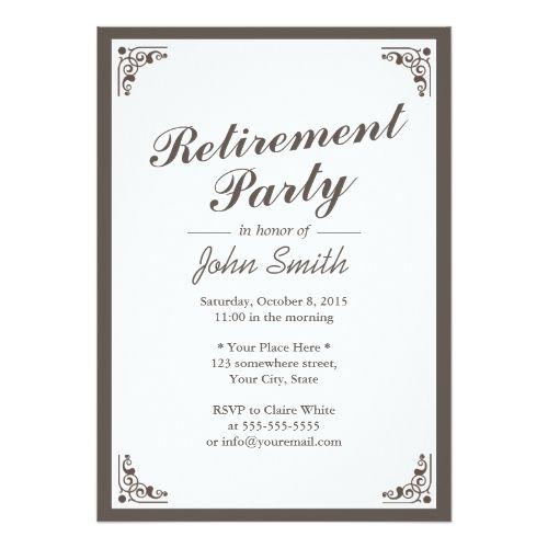 retirement party invitations elegant art deco border retirement, Party invitations