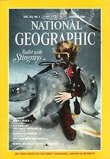 NATIONAL GEOGRAPHIC MAGAZINE JANUARY 1989 - BALLET WITH STINGRAYS...