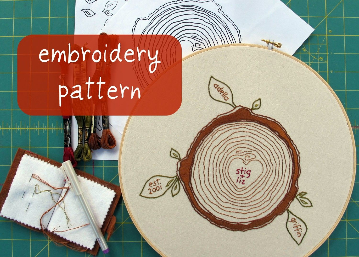 Custom family tree embroidery pattern 600 via etsy art custom family tree embroidery pattern 600 via etsy bankloansurffo Choice Image