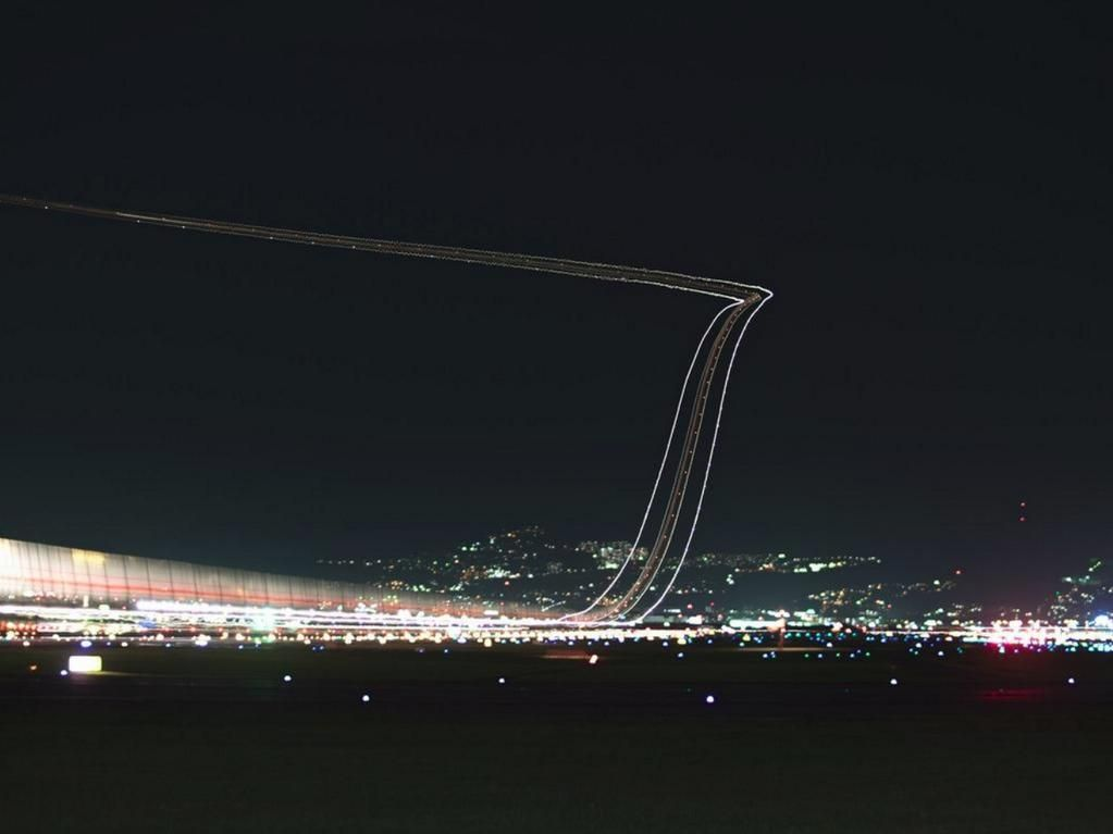 Extraordinary Japan Used Laser Beams To Draw A Landing Track For