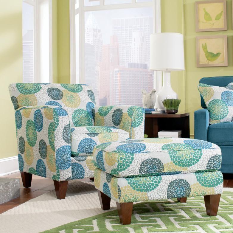 Amazing La Z Boy Chairs Allegra Chair U0026 Ottoman Set   Furniture Mart Colorado