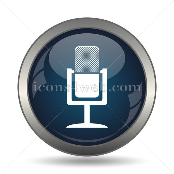 Microphone icon for website  Microphone stock image Microphone stock image icon for website High definition image designed for integration in published media such as post...