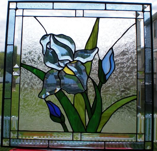 Beveled Iris Delphi Stained Glass Stained Glass Art Stained