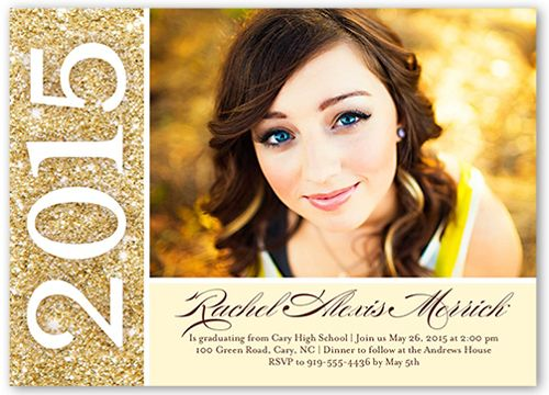 Bold Future 5x7 Invitation Card | Graduation Invitations