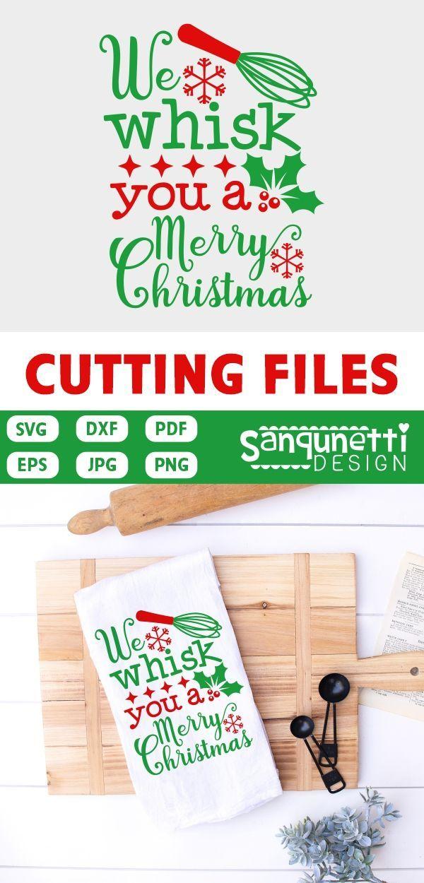 Wir schlagen Ihnen eine Merry Christmas Svg, Holiday Baking Cut-Datei für Silhouette und Cricut   – crafts