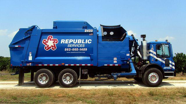Republic Services Mack Mru633 Heil Durapack 7000 Asl 2433 Garbage Truck Trucks Republic Services