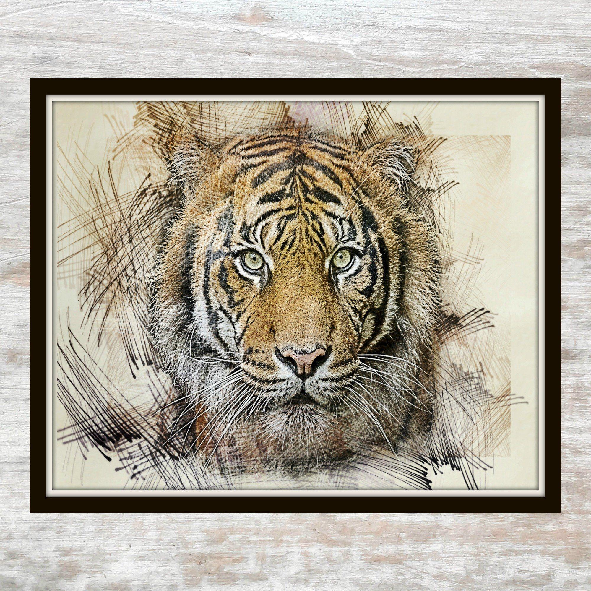 Orange Tiger - Orange Tiger Printable - Tiger Printable