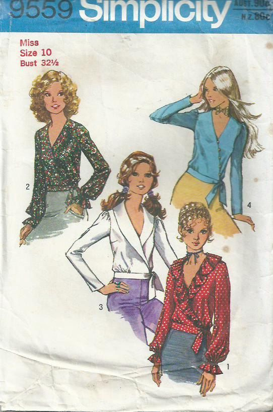 Wrap Front Blouse Simplicity Pattern 9559 by LouisaAmeliaJane, $5.00 ...