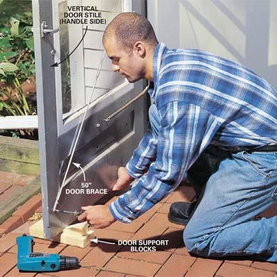 Fixing A Sagging Screen Door Home Repair Doors Home Repair
