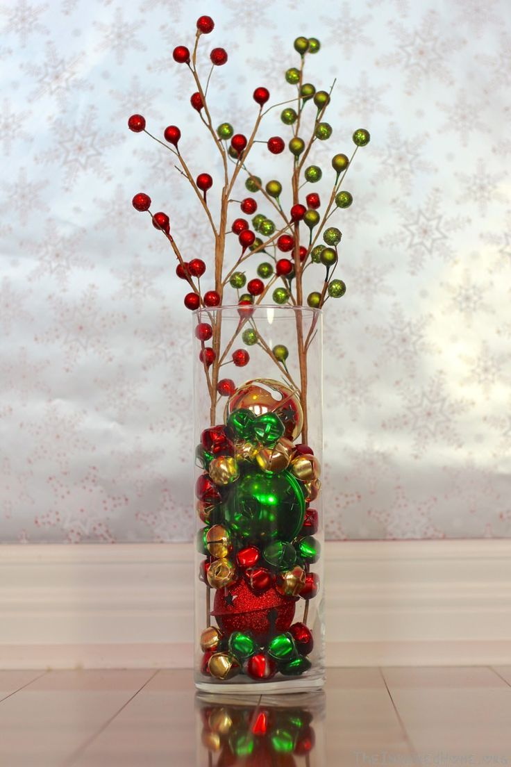6 holiday vase fillers jingle bells holidays and christmas decor 6 holiday vase fillers floridaeventfo Images