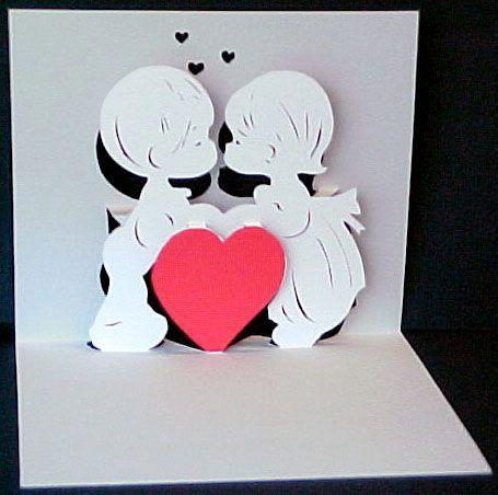 Plantillas Para Tarjetas Pop Up De San Valentin Valentinka