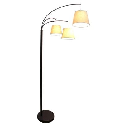3 Arm Arc Floor Lamp Oil Rubbed Bronze Threshold Chez