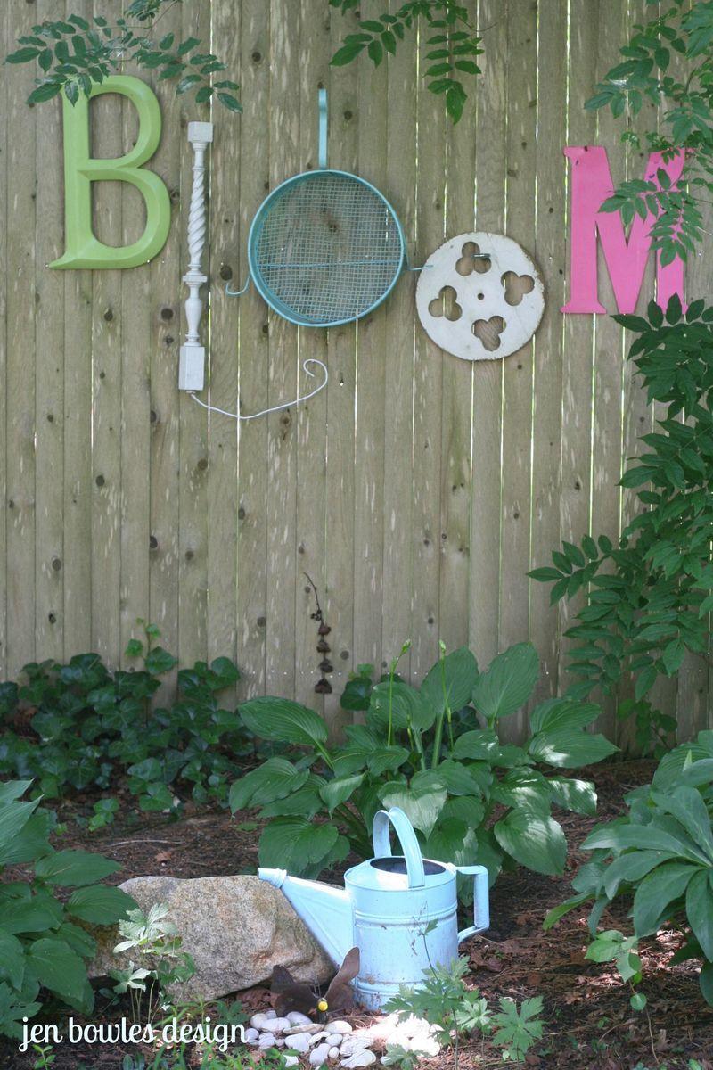 Bloom junk garden letters