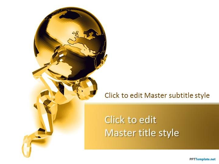 Free Gold Global PPT Template PowerPoint templates Pinterest - microsoft swot analysis template