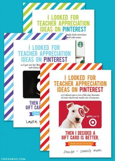 Photo of Teacher Gift Card Ideas & Gift Card Holder Printables – Fabulessly Frugal