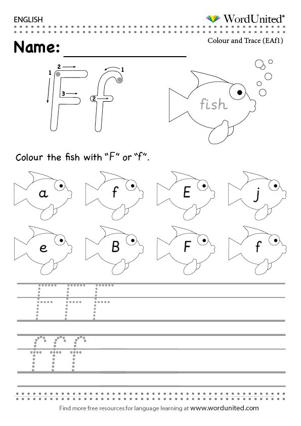 The English Letter F Read Trace And Write Wordunited Letter Worksheets For Preschool Letter F Teaching Handwriting