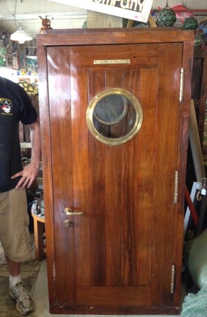 Ship Salvage Nautical Antique Warehouse Door Design Nautical Interior Nautical Style Decor