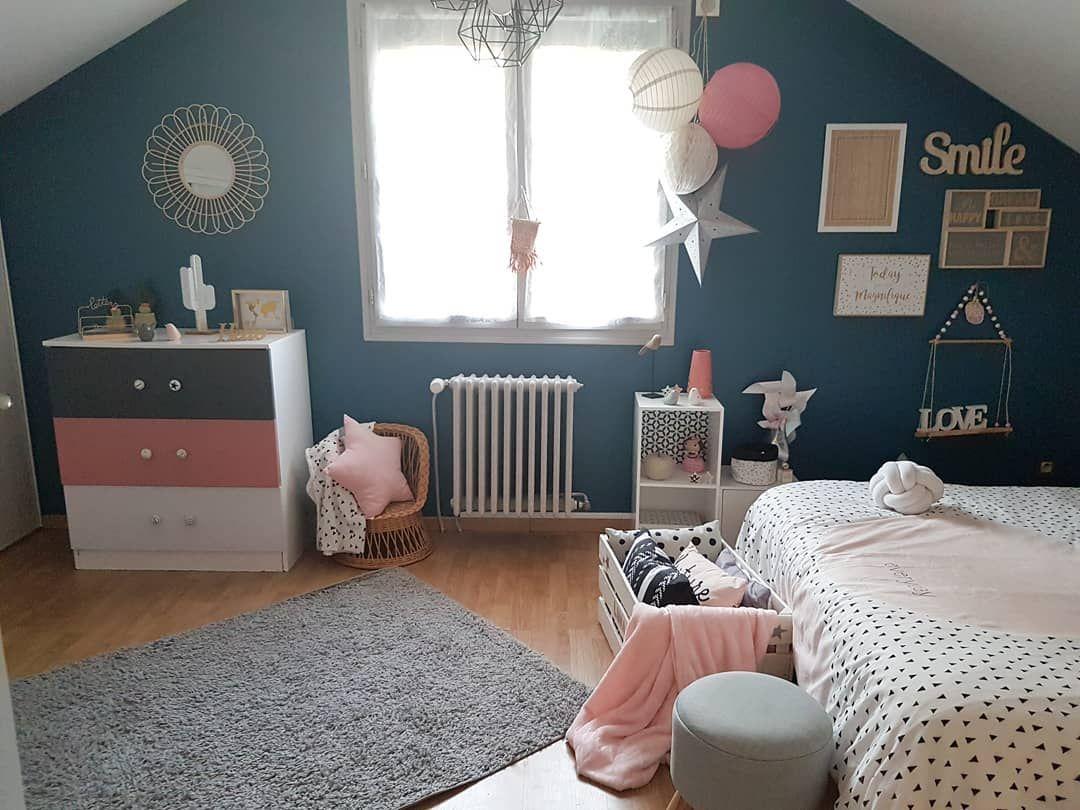 Idee De Decoration De Chambre D Enfant Contemporaine Bleu Rose