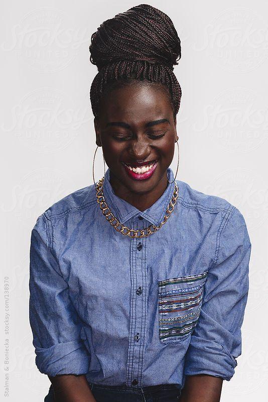 models Young black female