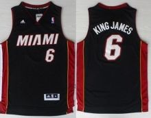 miami heat 6 lebron james king james nickname black revolution 30 swingman nba jerseys wholesale che