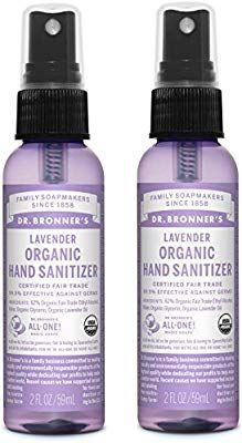 Amazon Com Dr Bronner S Organic Lavender Hand Sanitizer 2 Pack