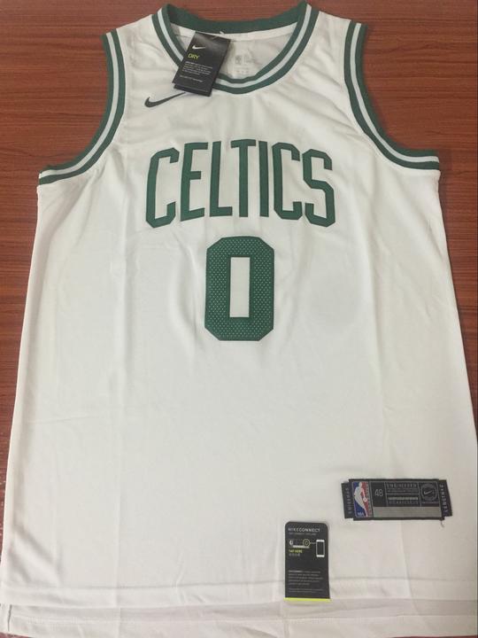 2aba8b0b8 Men 0 Jayson Tatum Jersey White Boston Celtics Jersey Swingman Fanatics