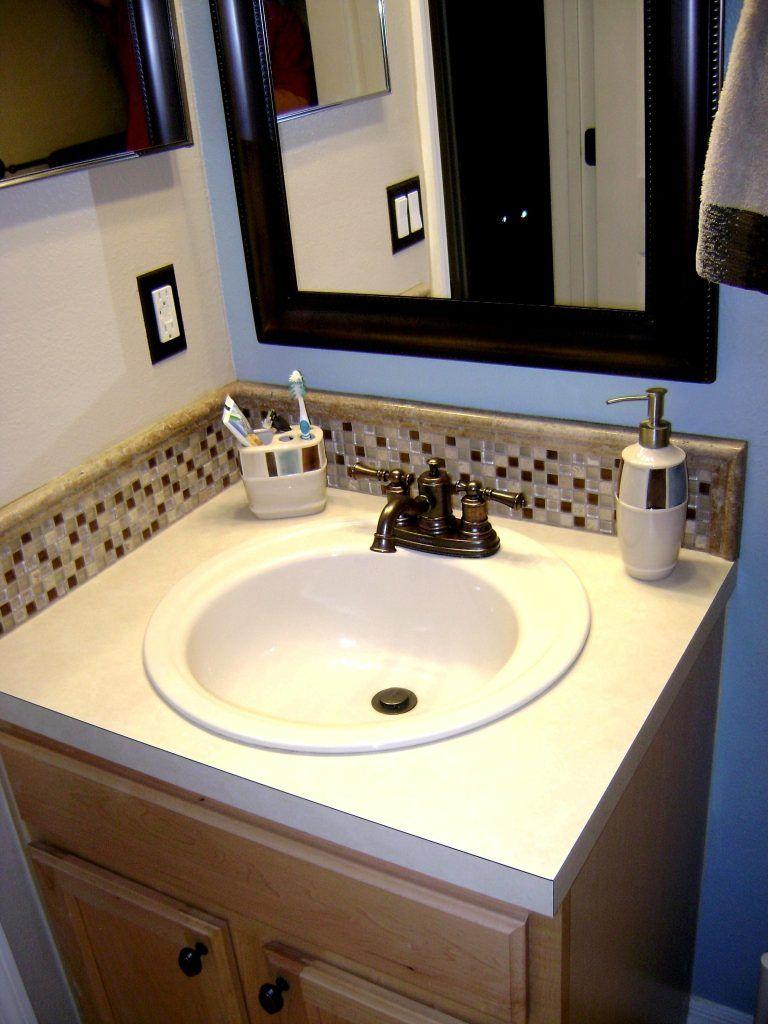 Image Result For Subway Tile Backsplash For Bathroom Sink