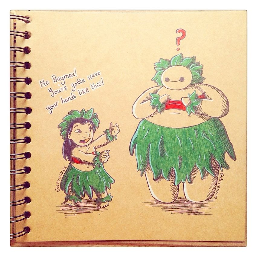 Lilo and Baymax :)deviantART