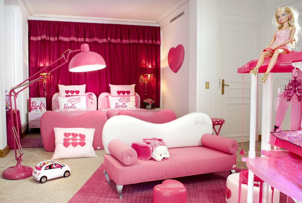 pink colors color colours Barbie room, Barbie
