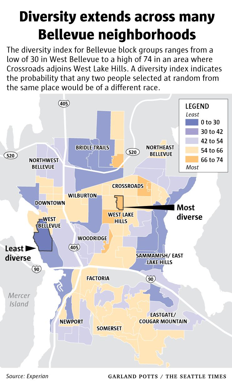 With New Diversity Bellevue Defies Its Blah Vue Image Bellevue The Neighbourhood Diversity Index