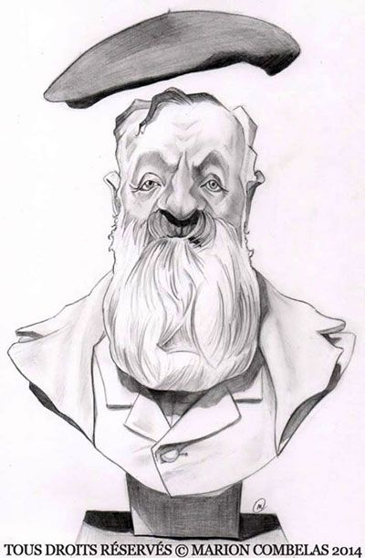 Irancartoon Web Gallery :: The Exhibition of Caricature by Marion Combelas/ France :: Auguste_Rodin
