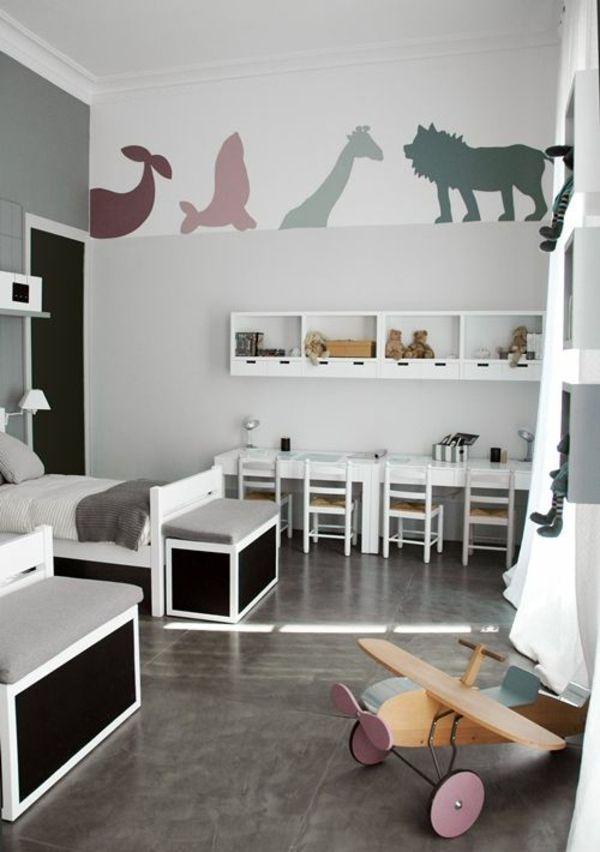 Kinderzimmer f r jungs farbige einrichtungsideen f r zwillinge for twins pinterest - Kleinkind zimmer junge ...