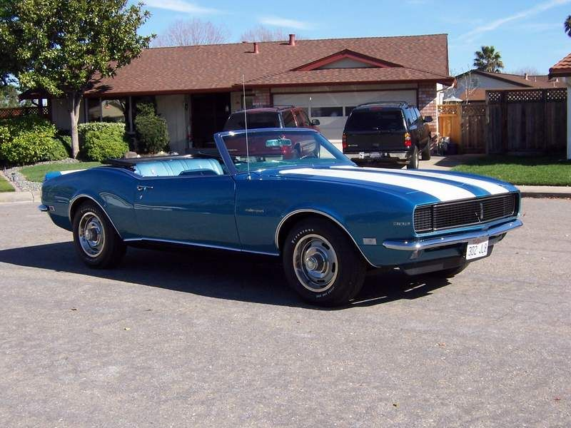 drop top vintage blue white camaro - Tad | Cars / Pickups ...