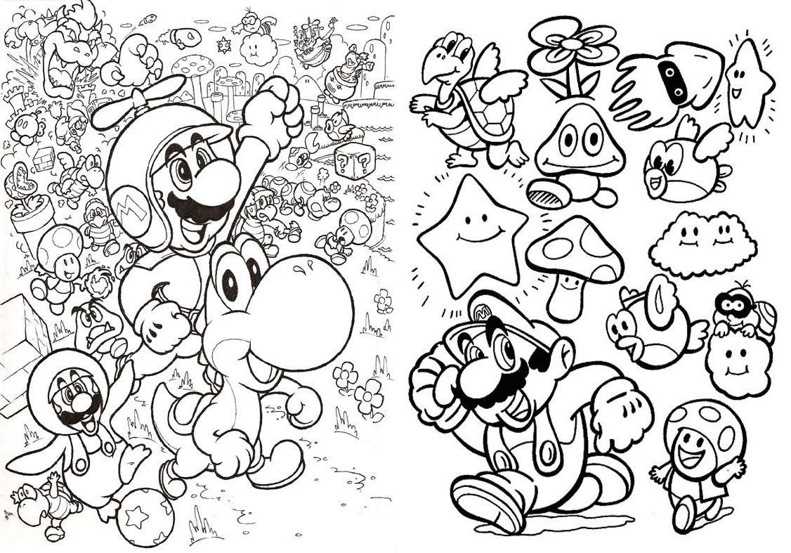 Livrinho Para Colorir Mario Bros 4 Jpg 1126 787 Mario Bros