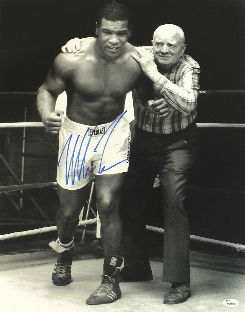 Mike Tyson Signed Photo Legendary Heavy Weight Champion Boxer Icon Poster