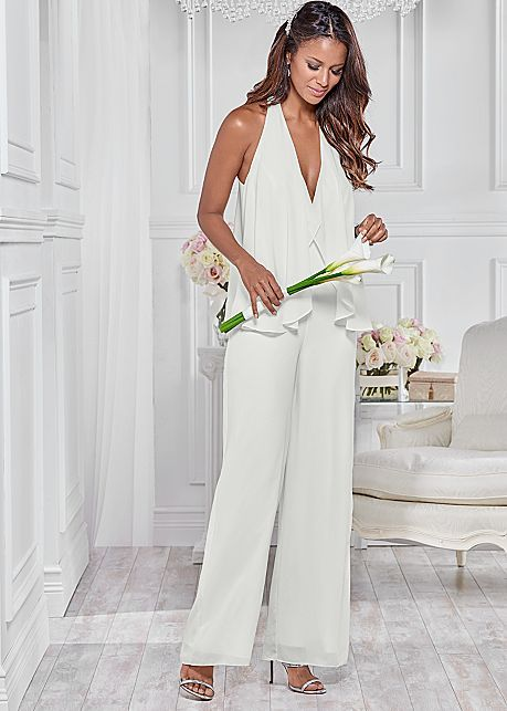 fe84f6a5ce Chiffon Jumpsuit in White
