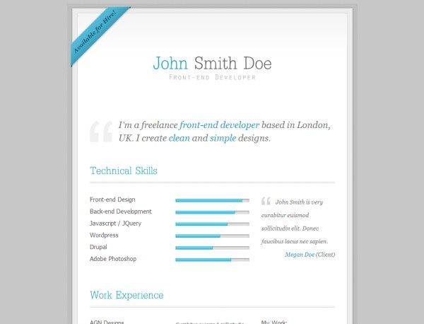 My Resume Will Work for Food! Pinterest Template - front end developer resume