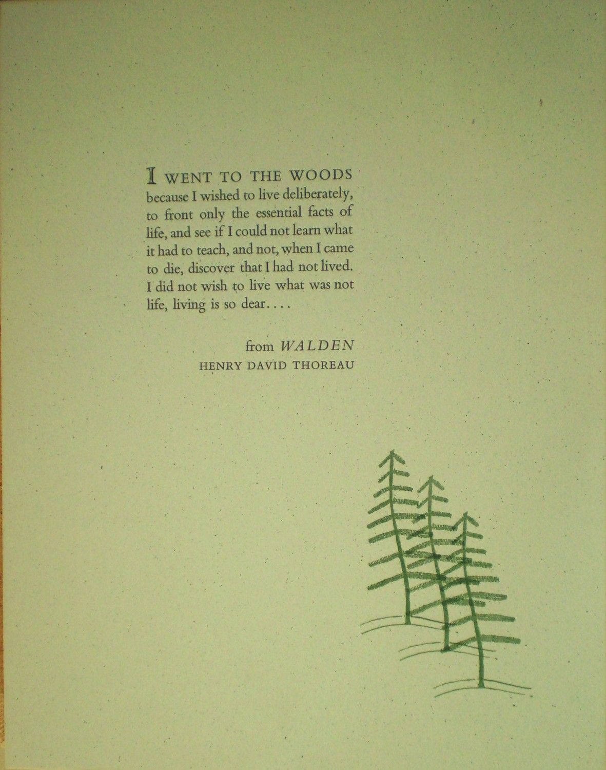 i went to the woods walden by henry david thoreau
