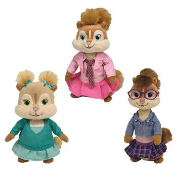 TY Beanie Babies - ALVIN & THE CHIPMUNKS (Set of 3 Chipettes ...
