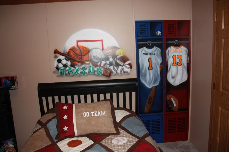 Image Detail For -Boy's Bedroom Lockers And Sports Theme