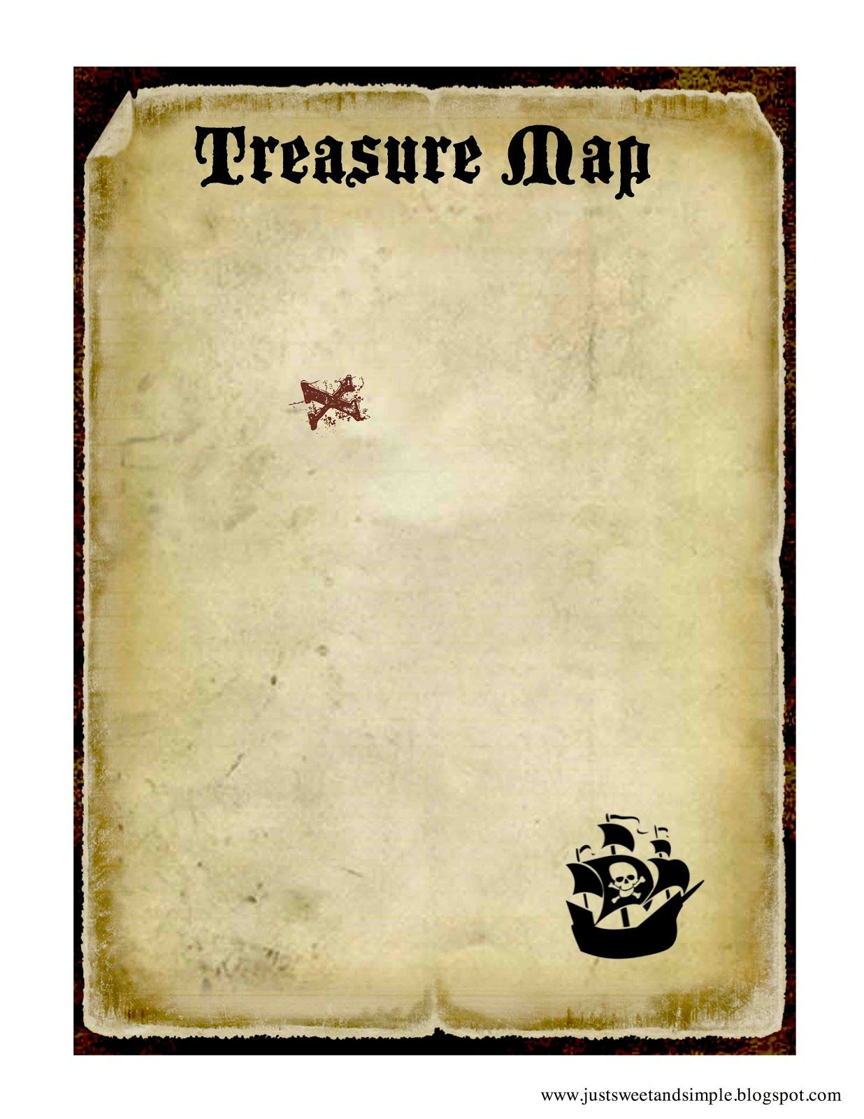 DIY pirate map printable- love this! Perfect for my pirate party ...