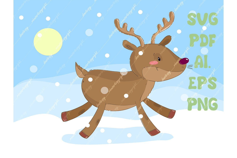 Christmas Reindeer Svg Download Deer Png North Nature Winter Christ By Rivus Art Thehungryjpeg Com Download Aff Deer Illustration Christmas Reindeer Svg