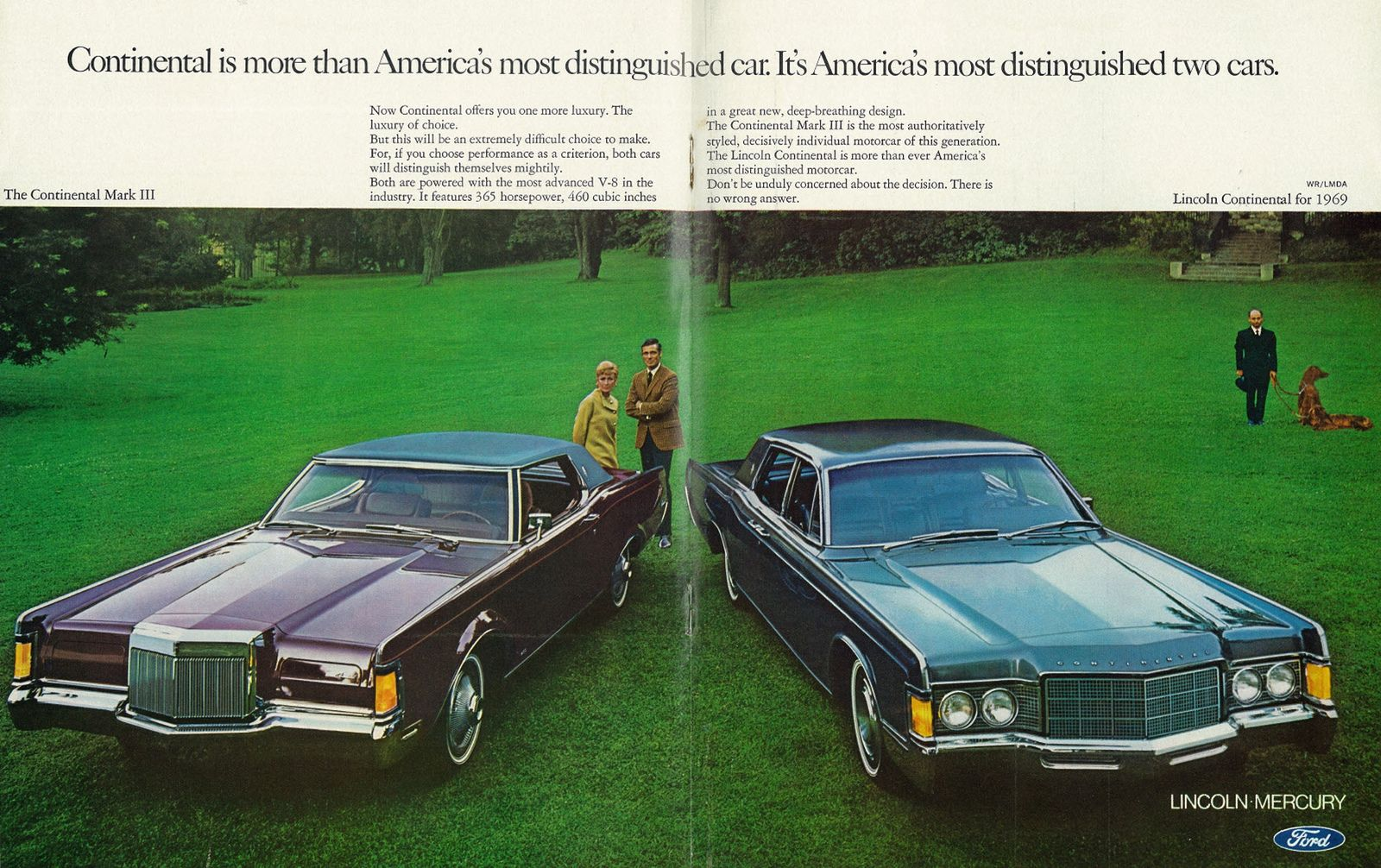 1969 car ad continental mark iii and lincoln continental lincoln mercury ford 2 page advert lincoln continental car ads lincoln mercury 1969 car ad continental mark iii and